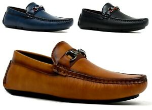 Mens-Smart-Loafer-Slip-On-Stitched-Buckle-Party-Driving-Shoes-UK-Size-6-11