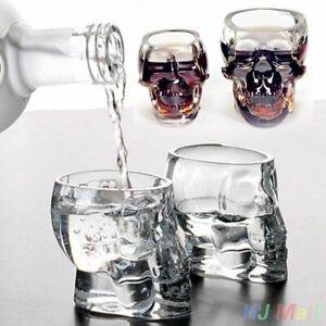 Vaso-Copa-Cristal-Craneo-Cabeza-Bar-Fiesta-Whisky-Vodka-Taza-De-Beber-esqueleto