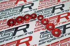 Ducati Diavel Dark Carbon Strada Cromo Amg Billet Red Frame Plugs Cover Caps