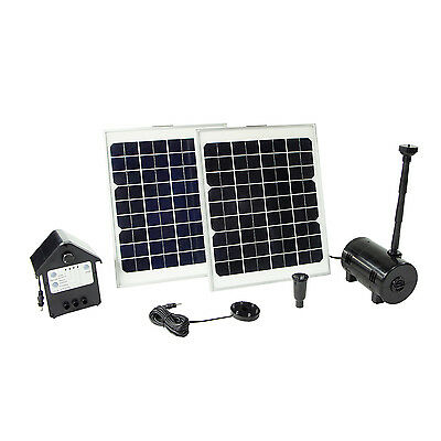 New 20W Solar Power Outdoor Fountain Water Pump Kit Submersible Pond Pool Lights