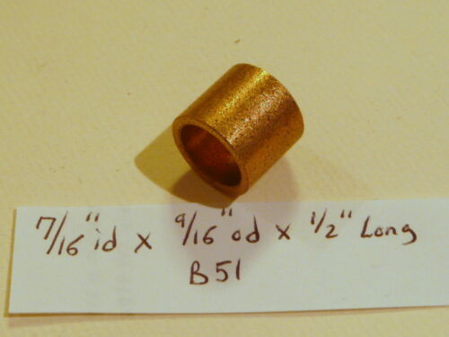 Oilite Bushing Bronze New 7//16 id x 9//16 od x 1//2 Long Brass Bearing Motor B51