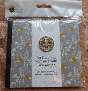 2017 Jane Austen - £ 2 Coin-monnaie Royale Pack-deux Livres-an Enduring Romance-afficher Le Titre D'origine Rpguu7vq-08003707-307627223