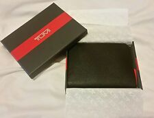 TUMI Camden Black Leather Passport Cover Case 11881D RFID PROTECTION - NIB!