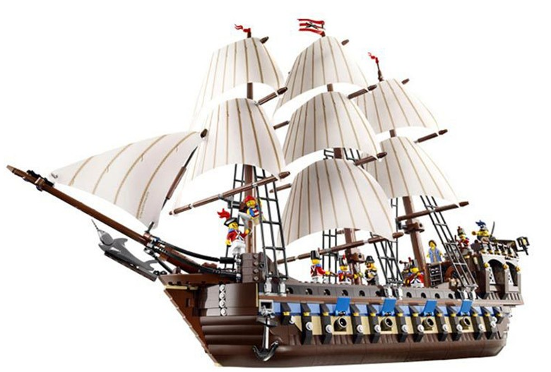 22001 MOC Pirate Ship Imperial warship Set Blocks Bricks 1717pcs