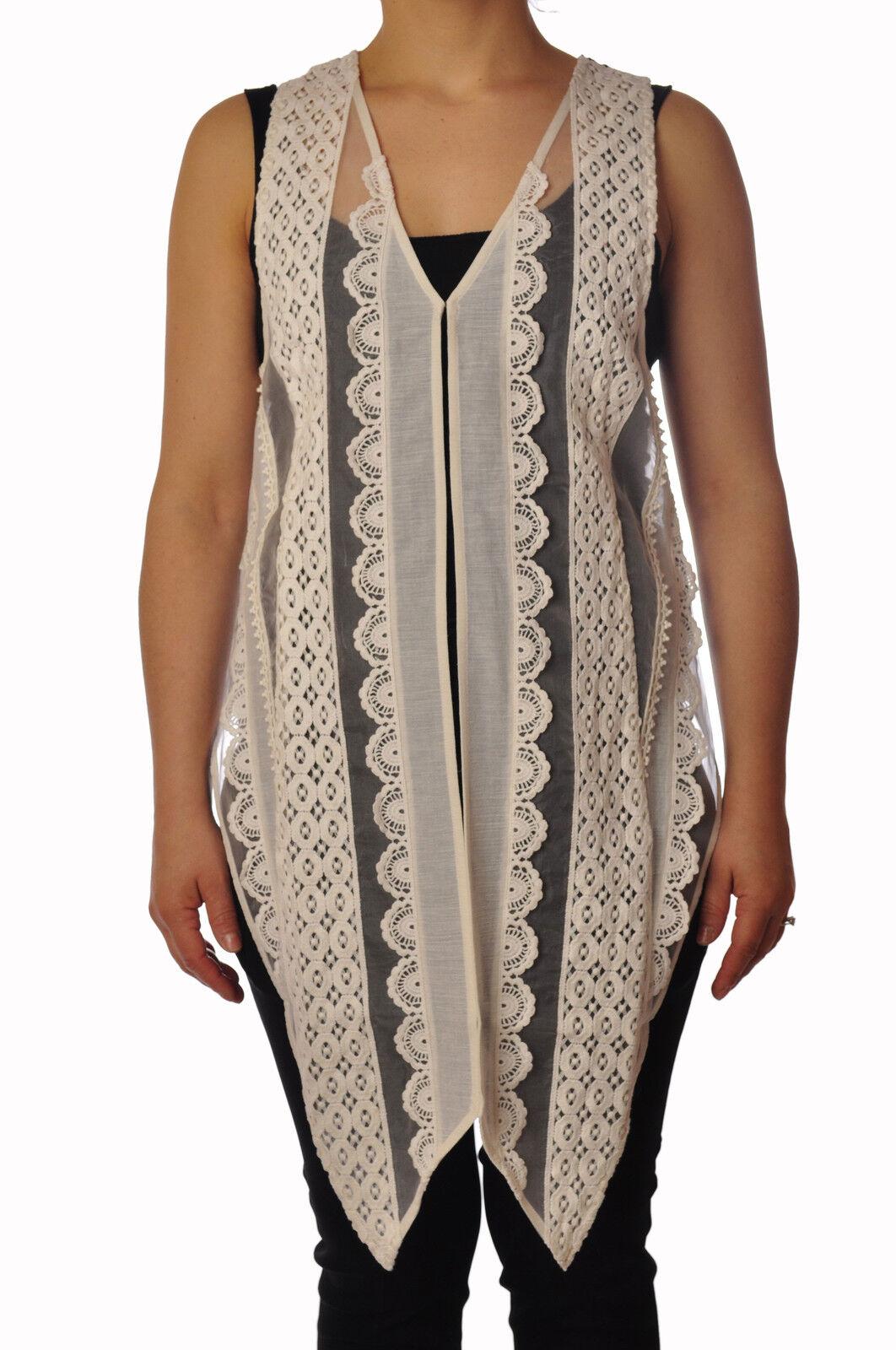 Twin Set  -  Waistcoat - Female - Beige - 3690126A185421