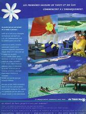 Publicité advertising 2003 Compagnie aerienne Air Tahiti Nui