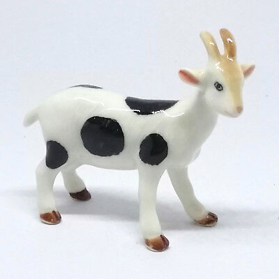 Goat Farm Animal Figurine Hand Painted Miniatures Ceramic Toy Gift Handcraft New