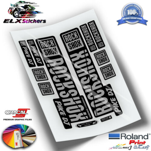 AUFKLEBER DECALS AUTOCOLLANTS PEGATINAS HORQUILLAS ROCKSHOX PIKE DJ 2019 WP262