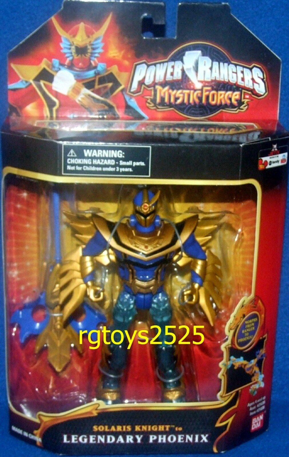 Power Rangers Mystic Force Solaris Knight a legendario Phoenix nuevo sello de fábrica