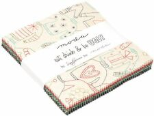"""Eat, Drink & Be Ugly Moda Charm Pack 42 100% Cotton 5"""" Precut Quilt Squares"""
