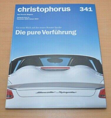 Ausdrucksvoll Porsche Christophorus Nr. 341 Magazin 12/09 911 Boxster Spyder