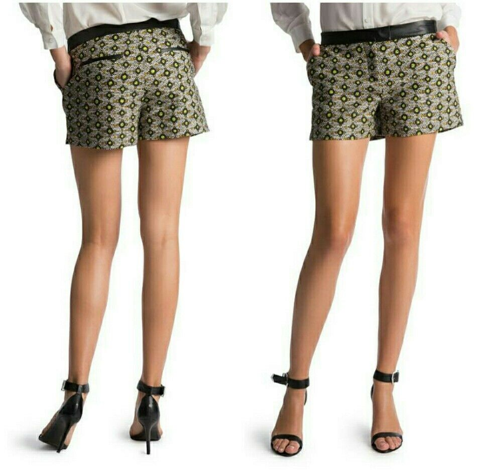 GUESS BY MARCIANO AZTEC LEATHER SHORTS