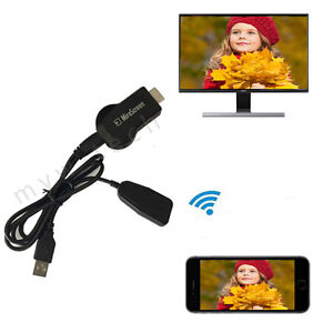 1080P HDMI AV HDTV Adapter Wireless Receiver Cord for Samsung Galaxy S7 //S7 Edge