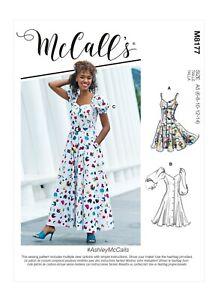McCalls Schnittmuster M8177 - Luftiges Sommerkleid mit Knöpfen - 3 Varianten