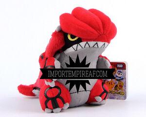 Pokemon-Groudon-Soft-Toy-Snowman-Plush-Doll-New-383-Legendary-Ruby-Rare-X