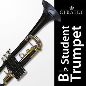 Black-Bb-CIBAILI-Trumpet-High-Quality-Brand-New-With-Case-Great-for-school