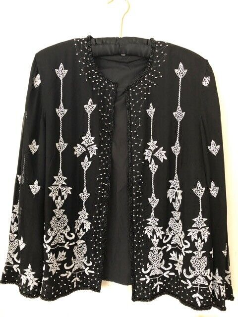 Hand Made Embroidered Evening Top Size M