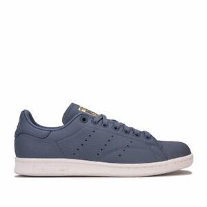Femmes-Adidas-Originals-Stan-Smith-Lacets-Matelasse-Baskets-en-Gris