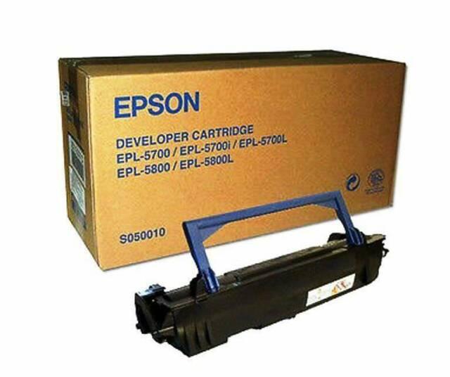 NEW Genuine Epson S050010 Developer Cartridge for EPL-5700/5700L/5800