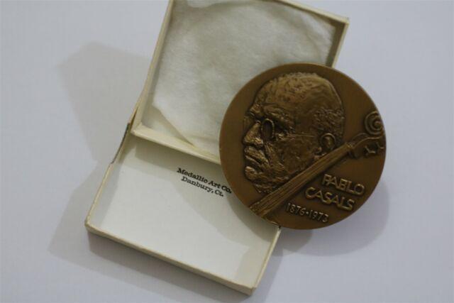 Medal for Pablo Casals, by Elizabeth Jones Chief Sculptor of US Mint B29 CG48-23