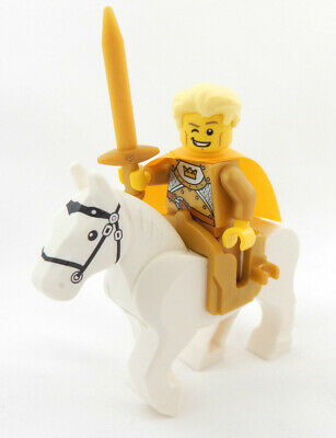 NEW LEGO PRINCE CHARMING w//Horse sleeping beauty castle knight crown minifig lot