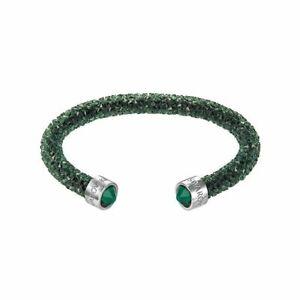 Détails sur Bracelet Swarovski Crystaldust Rigide Vert Foncé Femme M 5250690