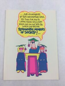 Vintage-Graduation-Commencement-Card-American-Heart-Beats-Funny-New-Made-in-USA