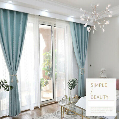 1pc Modern Imitation linen Curtains Living Room Shading Cloth Thermal  Insulated | eBay