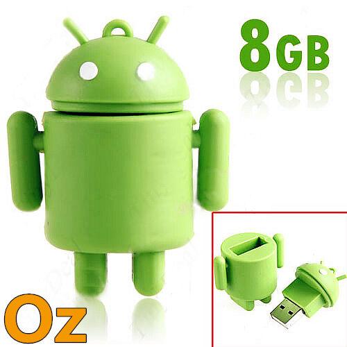 Android Robot USB Stick, 16GB Green Robot Quality USB Flash Drives Weirdland