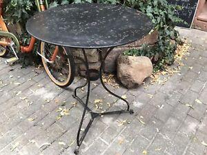Runder Gartentisch Eisen Tisch Mittelgross Ca 1920 Esstisch