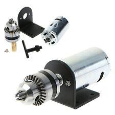 "Mini Hand Drill DIY Lathe Press 555 Motor w/ 1/8"" Chuck+ Mounting Bracket 12-36V"