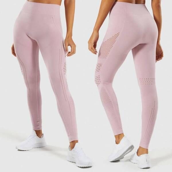 Damen Leggings Push Up Yoga Hose Fitness Seamless Hohl Legging Jogginghose Sport