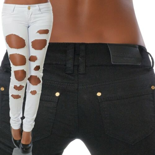Damen Jeans Hose Hüfthose Hüftjeans Röhre Röhrenjeans Skinny Denim Stretch N4016