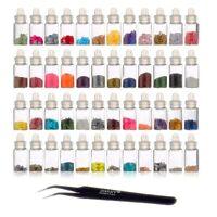 Shany Cosmetics 48 Mini Bottles Nail Art Decoration W/ Nail Tweezer