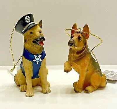 Twinkling Treasures 3D Blinking Christmas Ornament GERMAN SHEPHERD POLICE DOG