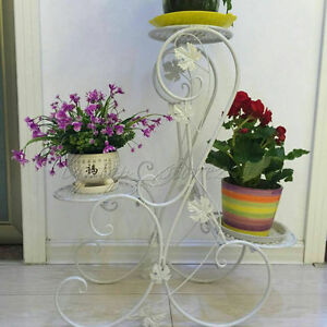 1e3fd2c5ac72 3 Tier S-Design White Floor-Standing Pot Plant Stand Contracted ...