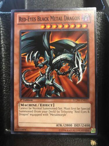 Yugioh Red-Eyes Black Metal Dragon LCJW-EN031-1st Edition Near Mint