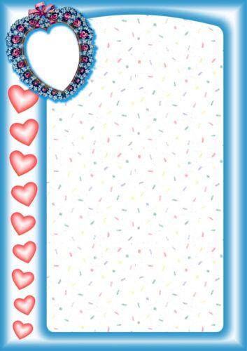NEU verliebt Liebe 100g//qm 20 Blatt Briefpapier Motivpapier mit Herz-Motiv