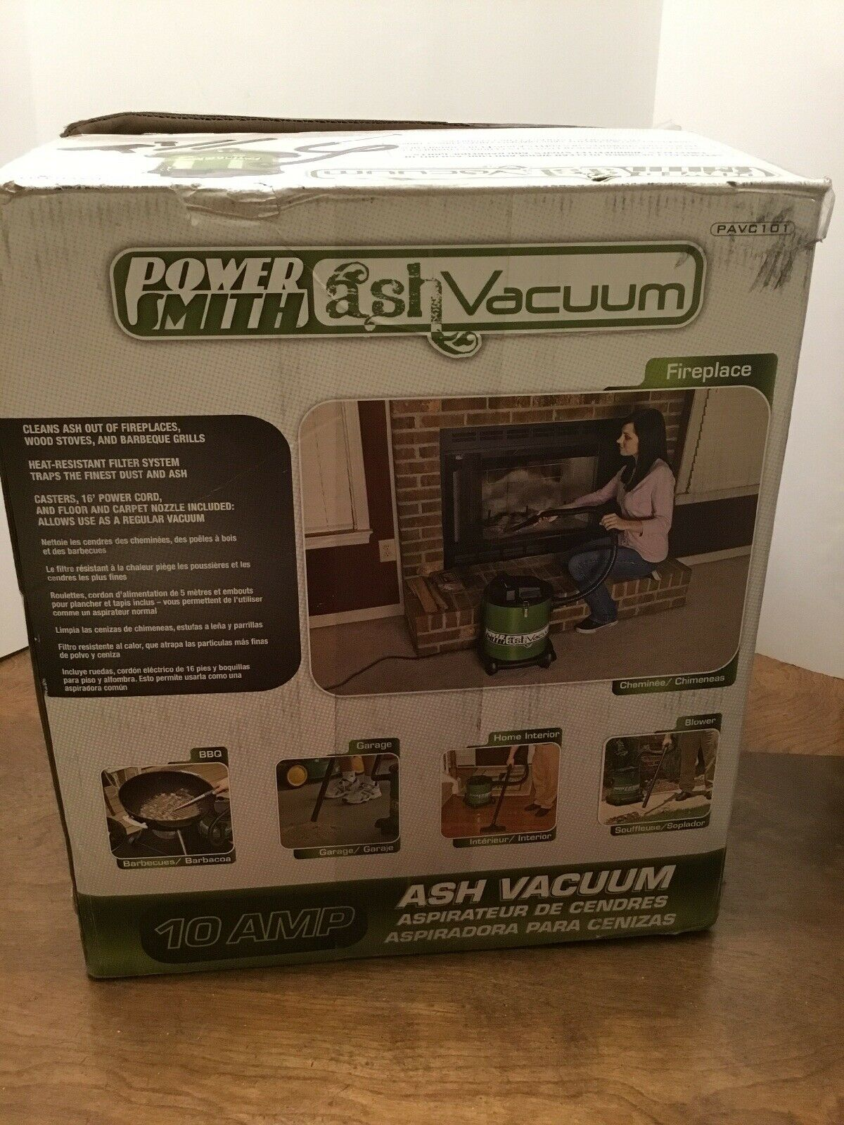 PowerSmith 10 Amp 3 Gal. Ash Vacuum-PAVC101 For Fireplace Stove Grill