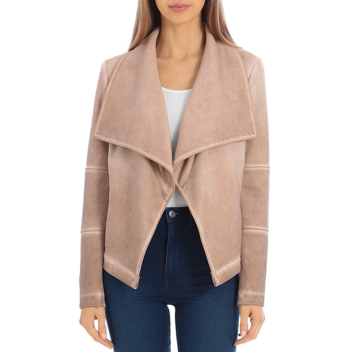 Bagatelle Womens Tan Faux Suede Washed Ou Jacket Coat L BHFO 0038