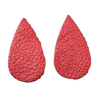 "Leather Earrings Small Circle Die Cut 12pk Roulette Red Metallic /""Vegas/"" DIY"