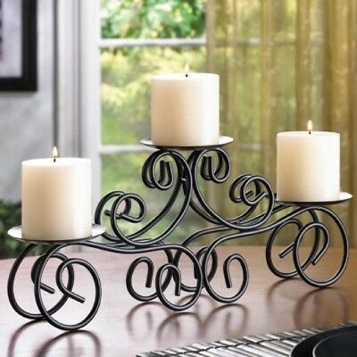 "Elegant Decor LARGE 17 1//2"" Contemporary Chandelier Black Candle Lamp Lantern"