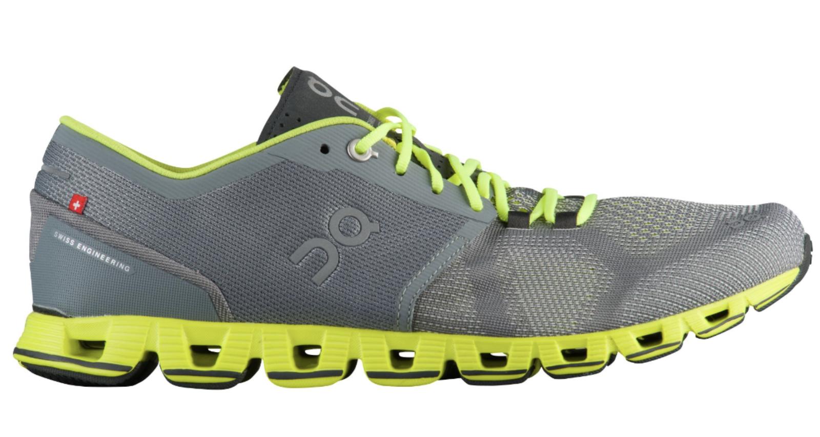 New Men's ON CLOUD X Cloudtec Running shoes Grey Neon 204300 c1