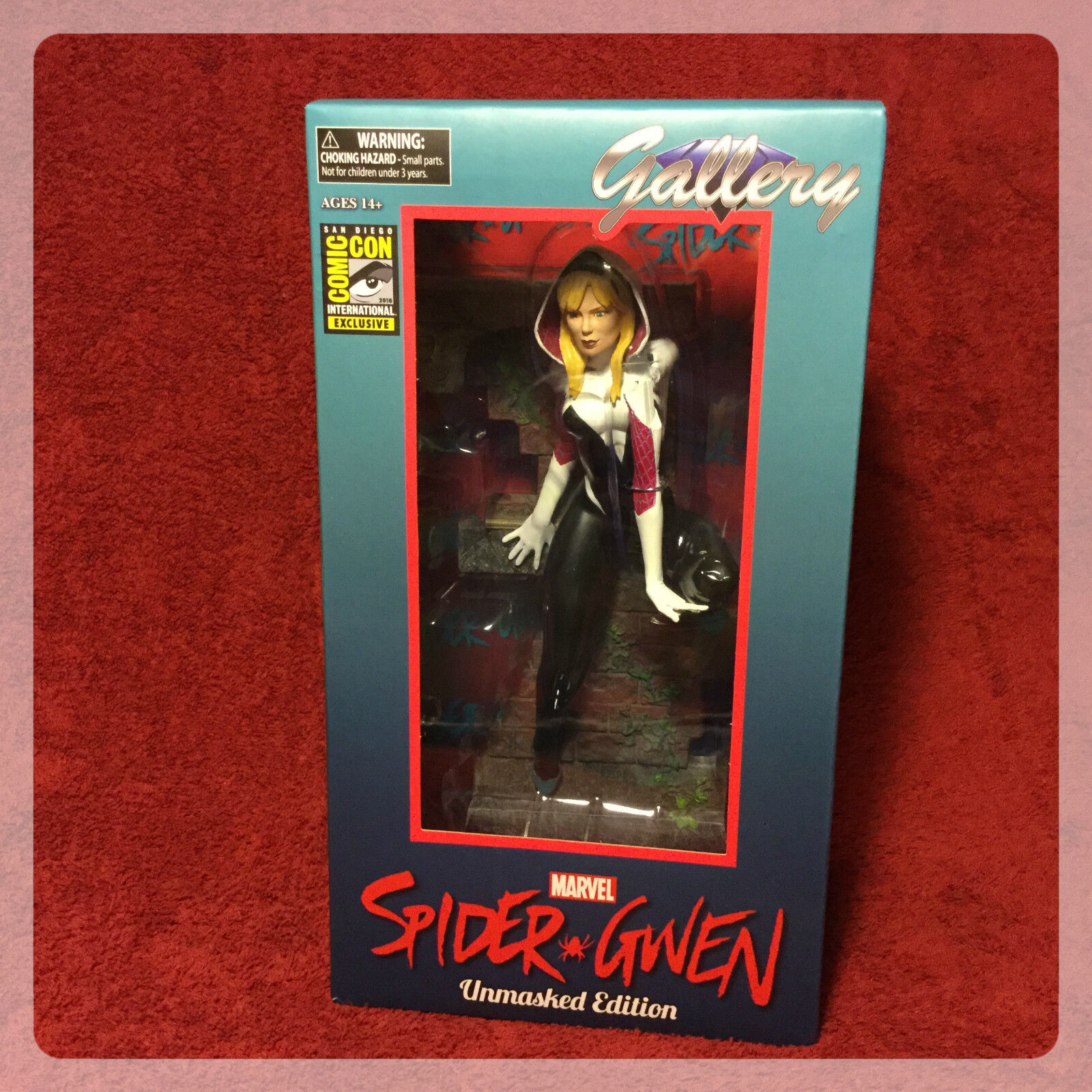 SDCC COMIC CON 2016 EXCLUSIVE MARVEL GALLERY SPIDER-GWEN UNMASKED FIGURE
