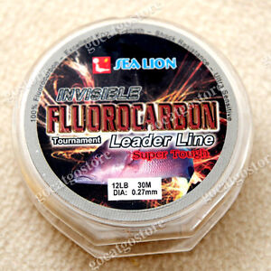 NEW-Sea-Lion-100-Made-in-Japan-Fluorocarbon-Leader-Fishing-Line-12LB-30M