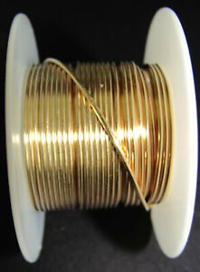 1 roll Gold plated brass wire,28 26 24 22 20 18 Gauge Crochet Wire for Jewelry Making