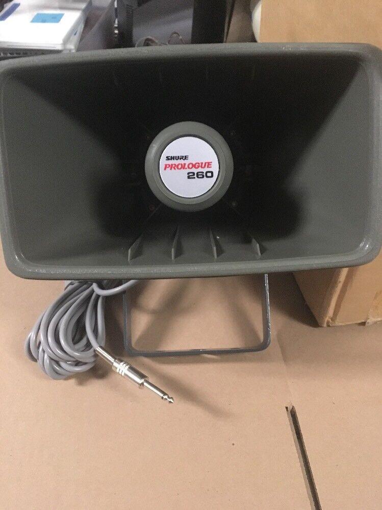 New Shure Prologue 260 Wide Range Horn Projector Loud Speaker 25W 8 Ohm