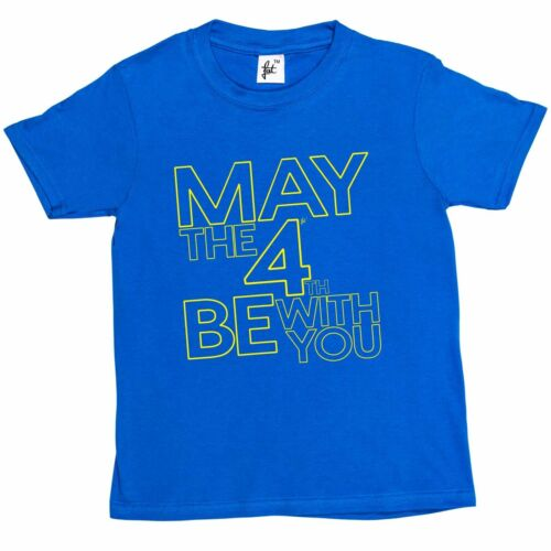 Girls T-Shirt May The 4th//Fourth Be With You Independence Day  Kids Boys