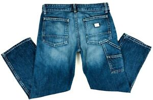 AG-Adriano-Goldschmied-Women-27R-Carpenter-Cropped-Jeans-Cotton-Cargo-Pockets