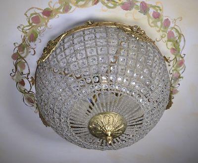 Deckenleuchte Antik Stil Hängeleuchte Pendelleuchte Shabby Glas Glocke